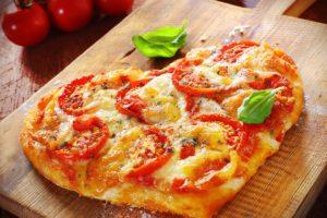 pizza, Food, Hearts, Tomatoes
