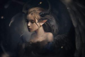 elven ears, Horns, Wings, Children, Tiefling