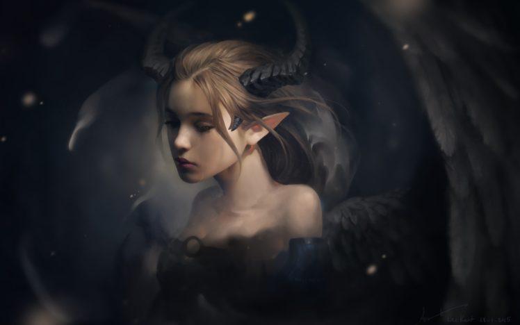 Elven Ears, Horns, Wings, Children, Tiefling HD Wallpapers