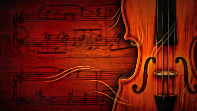 Colorful Music Notes In A Lin Hd Wallpaper Background Images: Violin, Music, Musical Notes HD Wallpapers / Desktop And