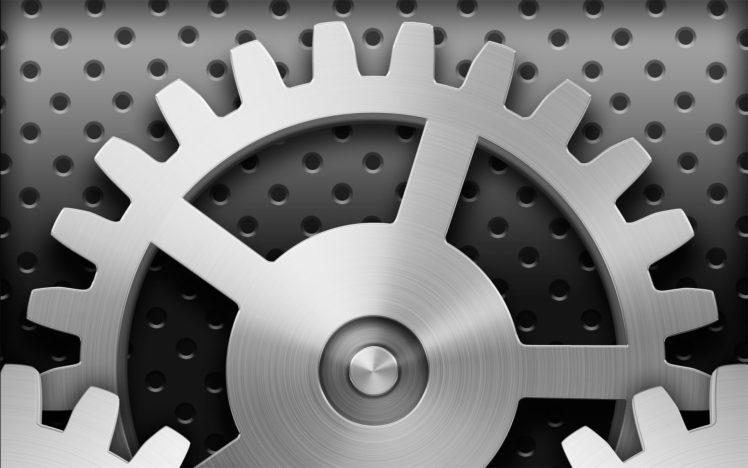 Apple Inc., Gears, Icon HD Wallpaper Desktop Background
