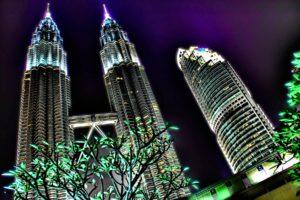 building, City, Architecture, Glowing, Malaysia, Kuala Lumpur