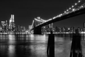 New York City, Bridge, Monochrome
