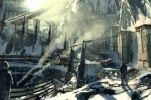 snow, Mountain, Sunlight, Smoke, Guards, Concept art, Killzone