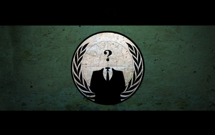 Anonymous, Grunge, Suits, Questions HD Wallpaper Desktop Background