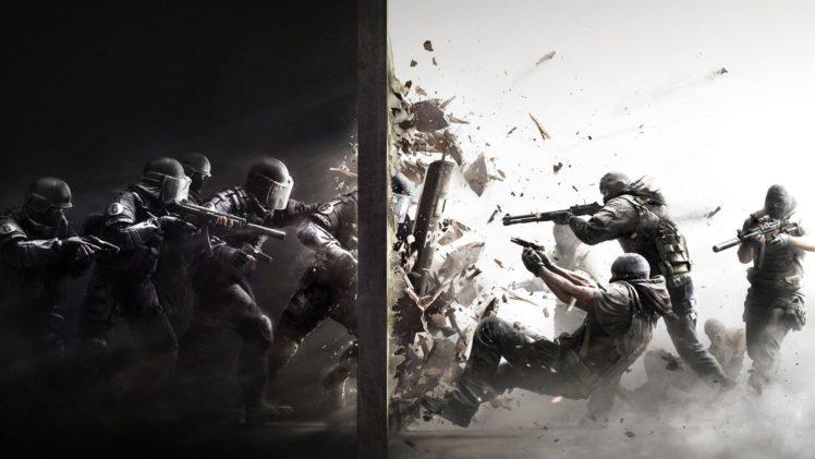 Rainbow Six Siege Splitting Battle Soldier Hd Wallpapers