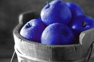 selective coloring, Apples