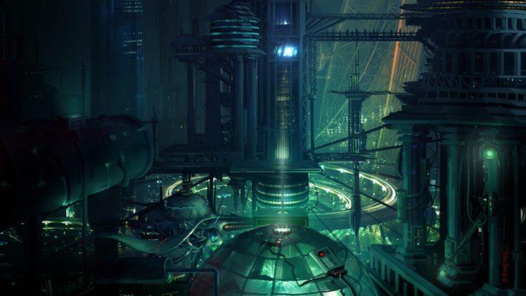 futuristic, Lights, City HD Wallpaper Desktop Background