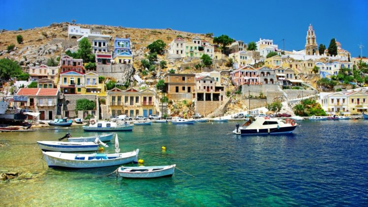 Boat Greece Hd Wallpapers Desktop And Mobile Images Photos