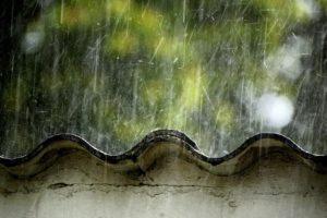 rooftops, Rain, Japan