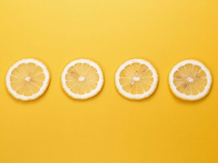 Yellow Background Lemons Minimalism Hd Wallpapers