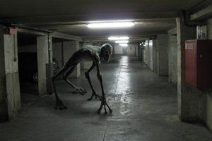 creature, Horror, Urban, Garages, Hallway, Loboto