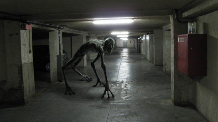 creature, Horror, Urban, Garages, Hallway, Loboto HD Wallpaper Desktop Background