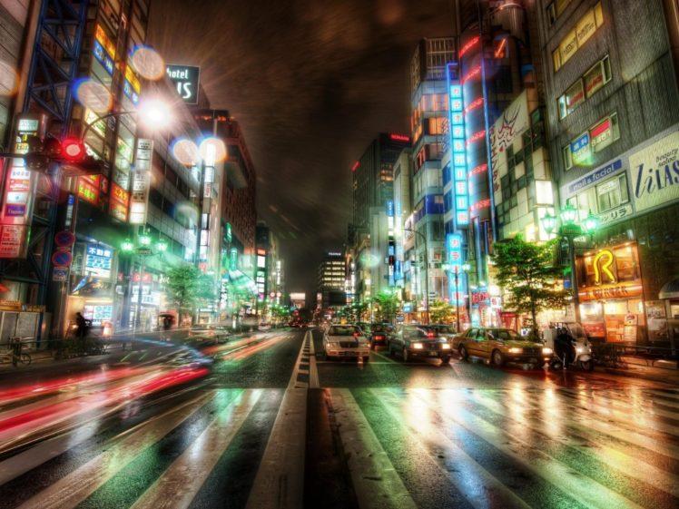 HDR, Street, Urban, Lights, Neon, City, Photography, Cityscape HD Wallpaper Desktop Background