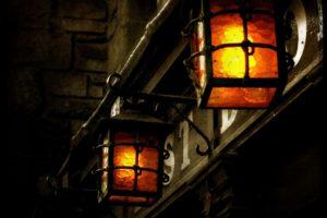 lantern, Dark, Building, Old building