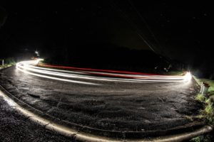 long exposure, Night, Road, Lights, Photography