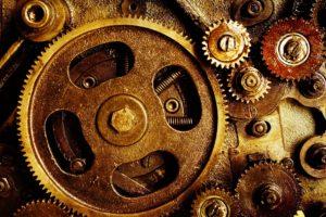 technology, Gears, Screw, Spring, Metal