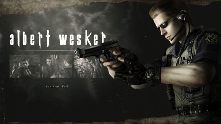 Resident Evil HD Remaster, Albert Wesker HD Wallpaper Desktop Background