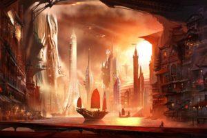 science fiction, Sailing ship