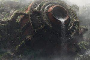 science fiction, Waterfall