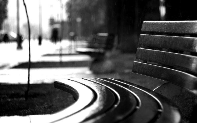 photography, Monochrome, Rain HD Wallpaper Desktop Background