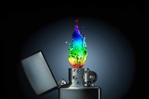 photo manipulation, Colorful, Dark, Fire, Water