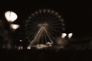 sepia, Theme parks, Ferris wheel