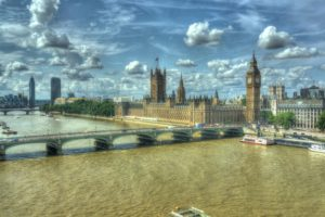London, HDR, Bridge, Big Ben