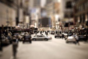 tilt shift, Cityscape