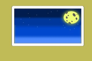 night, Minimalism, Moon, Colorful