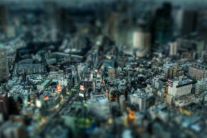 tilt shift, Cityscape, Photography, City, Japan