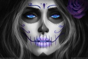 Sugar Skull, Face, Face paint