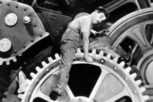 Modern Times, Charlie Chaplin, Gears, Machine