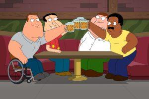 Family Guy, Beer, Glenn Quagmire, Joe Swanson, Peter Griffin, Cleveland Brown, Bar