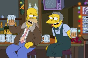 The Simpsons, Beer, Homer Simpson, Moe Sizlack, Bar