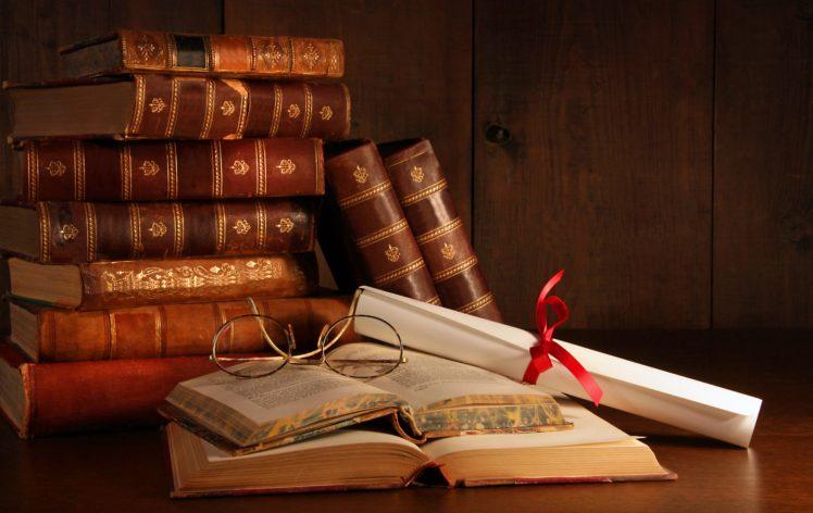 books, Paper, Glasses, Table, Wood HD Wallpaper Desktop Background