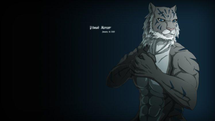 furry, Tiger HD Wallpaper Desktop Background