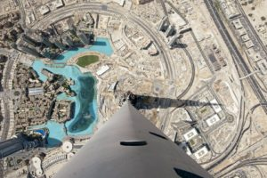 cityscape, Dubai, Burj Khalifa, United Arab Emirates, Architecture, Building, Skyscraper, Top view, Shadow, Road