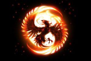 phoenix, Vonikk, Simple background
