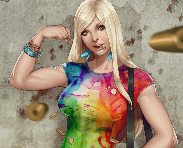 blonde, Colorful HD Wallpaper Desktop Background