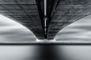 bridge, Monochrome, Architecture