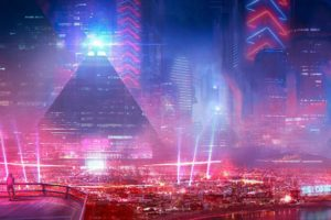 city, Cyberpunk, Science fiction