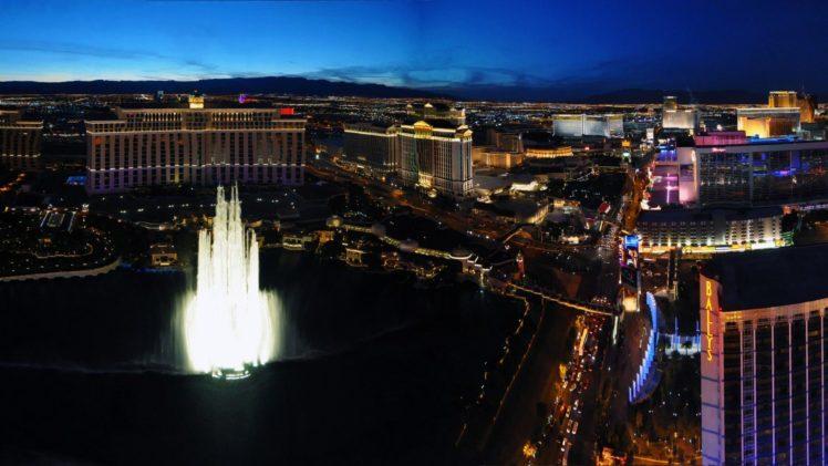 city, Las Vegas, Hotels, Fountain HD Wallpaper Desktop Background