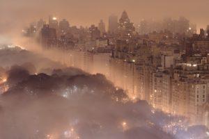 city, Smog, New York City