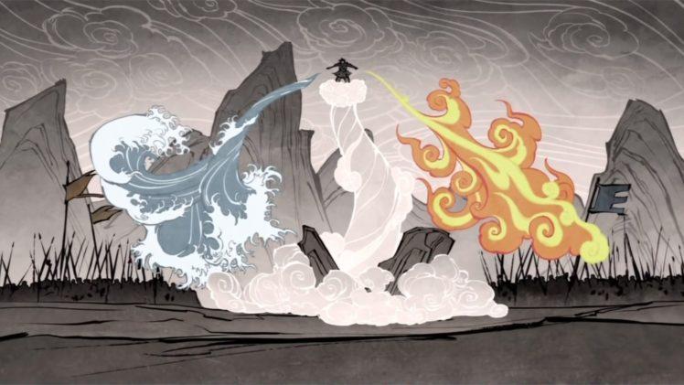 elements, The Legend of Korra, Wan (Legend of Korra), Four elements HD Wallpaper Desktop Background