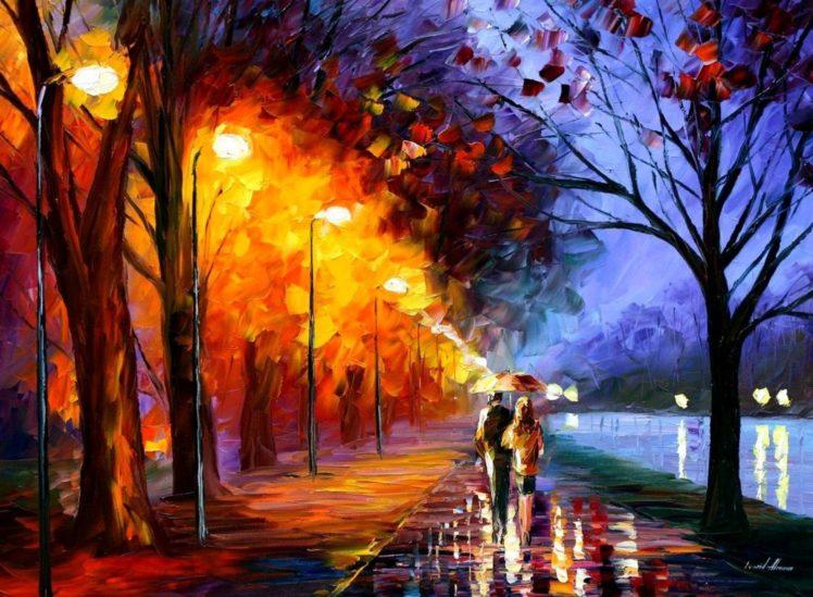 Leonid Afremov, Oil painting, Painting