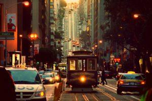 road, Cityscape, Tram