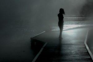 dock, Mist, Monochrome, Silhouette