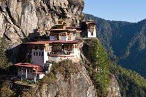 mountain, Bhutan, Cliff, House, Himalayas