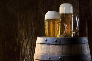 beer, Foam, Walls, Barrels, Wood, Drinking glass